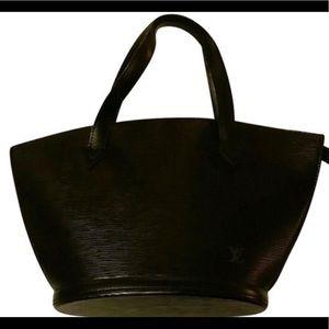 Louis Vuitton Noir Epi Saint Jacque tote bag
